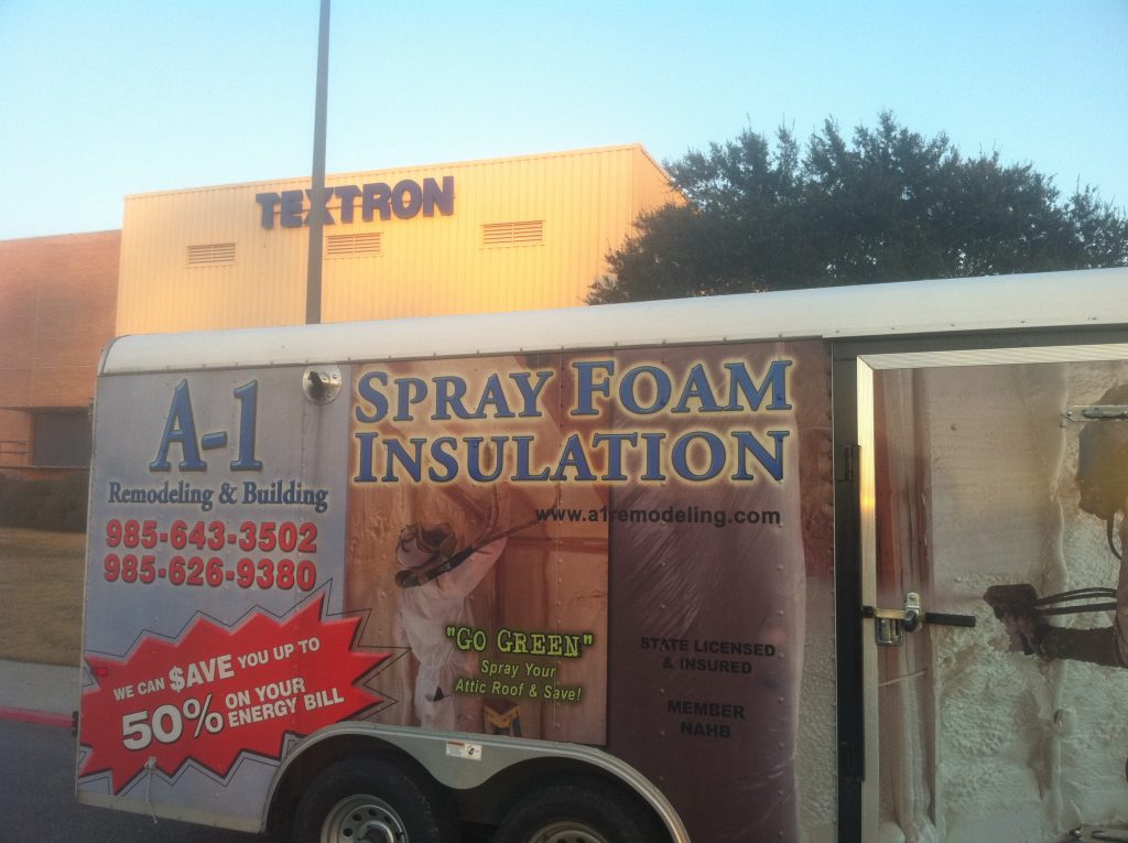 A-1 Spray Foam Insulation Truck