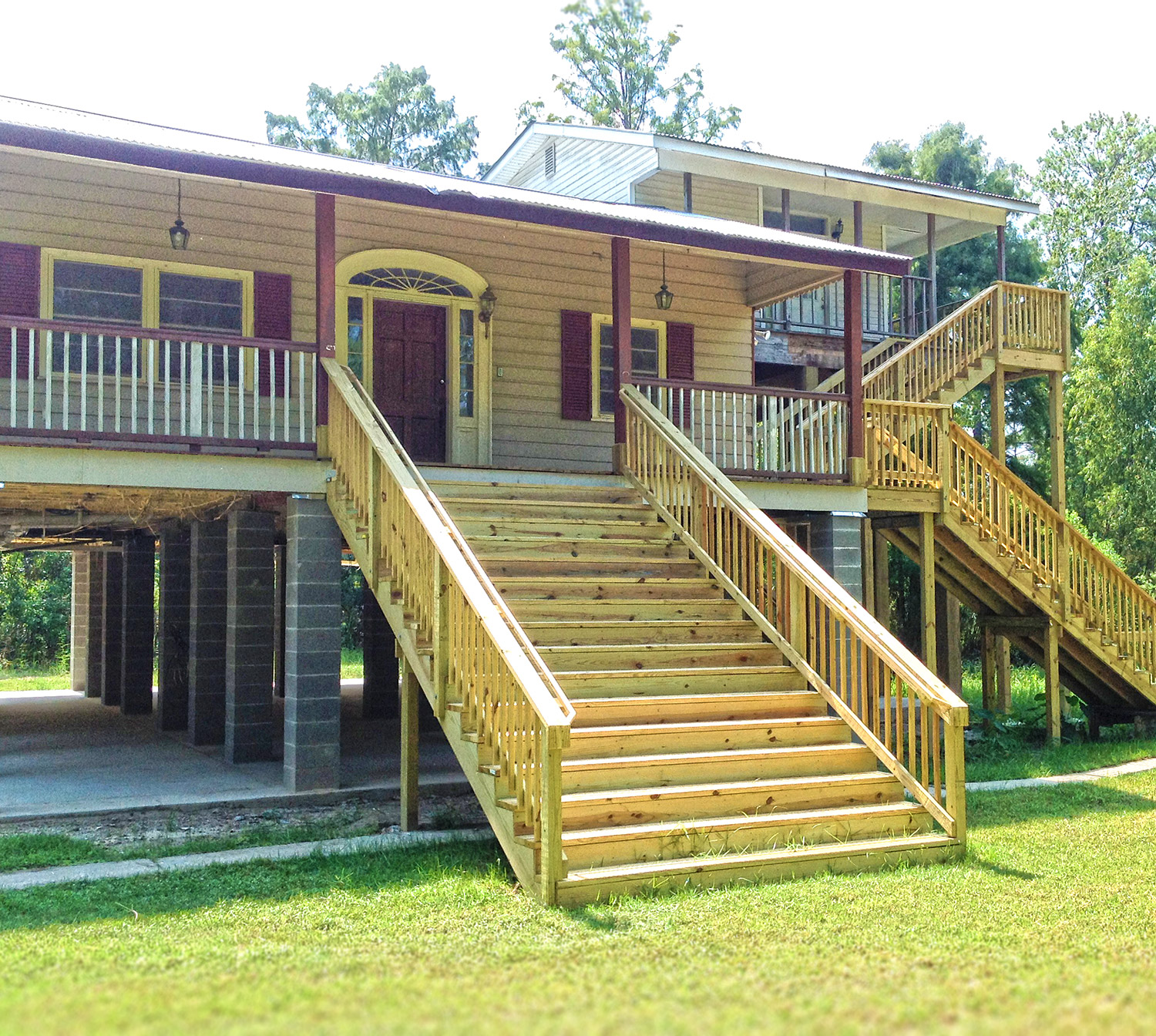 Raised Pier Or Open Foundation House Raise Elevation Grant Before After A1 Remodeling